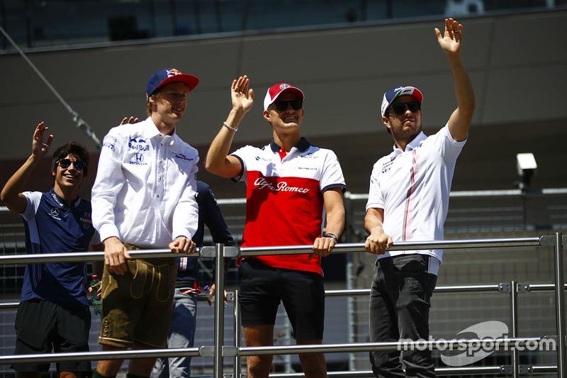 Brendon Hartley, Toro Rosso, Marcus Ericsson, Sauber, Sergio Perez, Force India