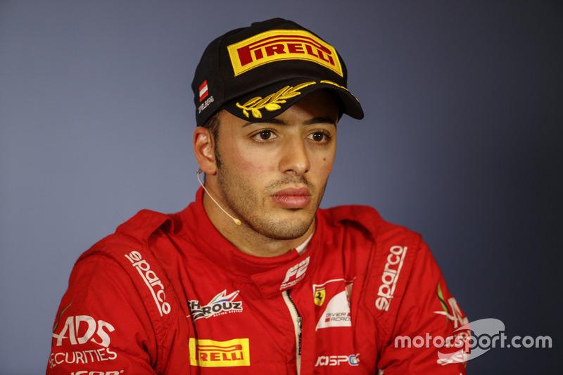 Tercer lugar Antonio Fuoco, Charouz Racing System