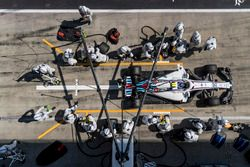 Sergey Sirotkin, Williams FW41, leaves his pit box after a stop