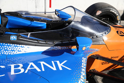 The aeroscreen of Scott Dixon, Chip Ganassi Racing Honda