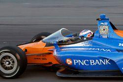 Scott Dixon, Chip Ganassi Racing Honda test aeroscreen