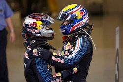 Yarış galibi Sebastian Vettel, Red Bull Racing, 2. Mark Webber, Red Bull Racing