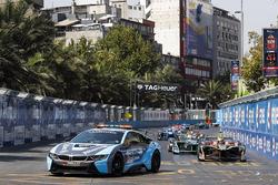 Pack follows the safety car. Jean-Eric Vergne, Techeetah Nelson Piquet Jr., Jaguar Racing, Andre Lot
