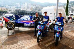 Toyoharu Tanabe, Director Técnico de F1, Honda, Brendon Hartley, Toro Rosso y Pierre Gasly, Toro Rosso