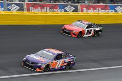 Denny Hamlin, Joe Gibbs Racing, Toyota Camry FedEx Ground, Parker Kligerman, Gaunt Brothers Racing, Toyota Camry Gaunt Brothers Racing
