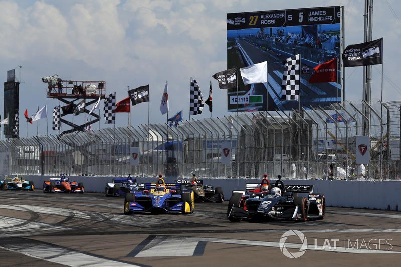 Jordan King, Ed Carpenter Racing Chevrolet, Alexander Rossi, Andretti Autosport Honda