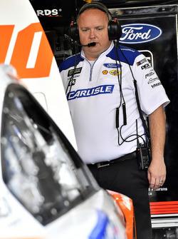 Ryan Blaney, Team Penske, Ford Fusion Devilbiss crew chief Jeremy Bullins
