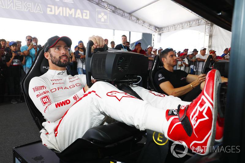 Jose Maria Lopez, Dragon Racing, Edoardo Mortara, Venturi Formula E Team, en la eRace
