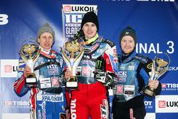 Подиум: Дмитрий Хомицевич, Дмитрий Колтаков и Мартин Хаарахилтунен