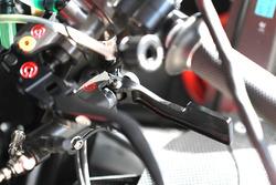 La palanca del freno trasero de Danilo Petrucci, Pramac Racing