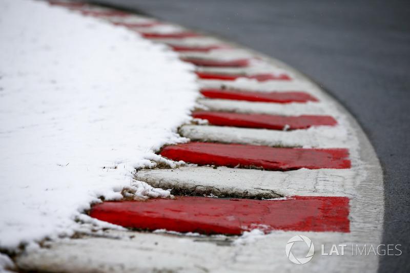 Pianos del Circuit de Barcelona con nieve