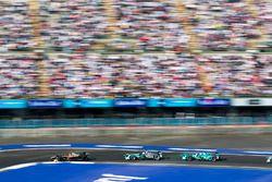 Jean-Eric Vergne, Techeetah. Nelson Piquet Jr., Jaguar Racing & Antonio Felix da Costa, Andretti For