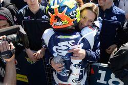 Nicholas Spinelli, Gresini Racing Junior Team, festeggia la vittoria