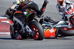 Il contatto tra Andrea Mantovani, Nuova M2 Racing e Matteo Baiocco, Nuova M2 Racing