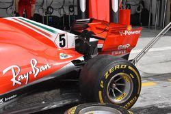 Ferrari SF71H: paratia ala posteriore e T-Wing bassa