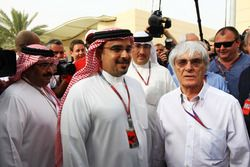 Crown Prince Shaikh Salman bin Isa Hamad Al Khalifa and Bernie Ecclestone, CEO Formula One Group (FOM)
