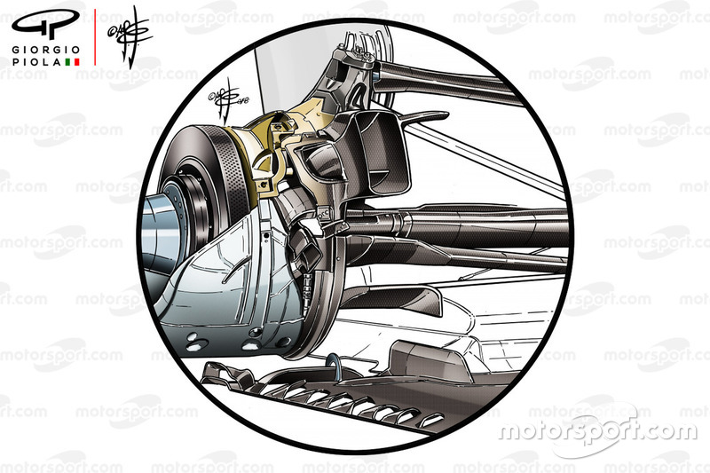 Mercedes AMG F1 W09 rear suspension
