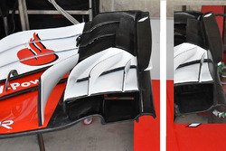 Ferrari SF71H front wing detail comparison with Austin GP 2017