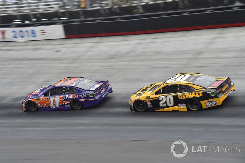 Denny Hamlin, Joe Gibbs Racing, Toyota Camry FedEx Freight, Erik Jones, Joe Gibbs Racing, Toyota Camry DeWalt