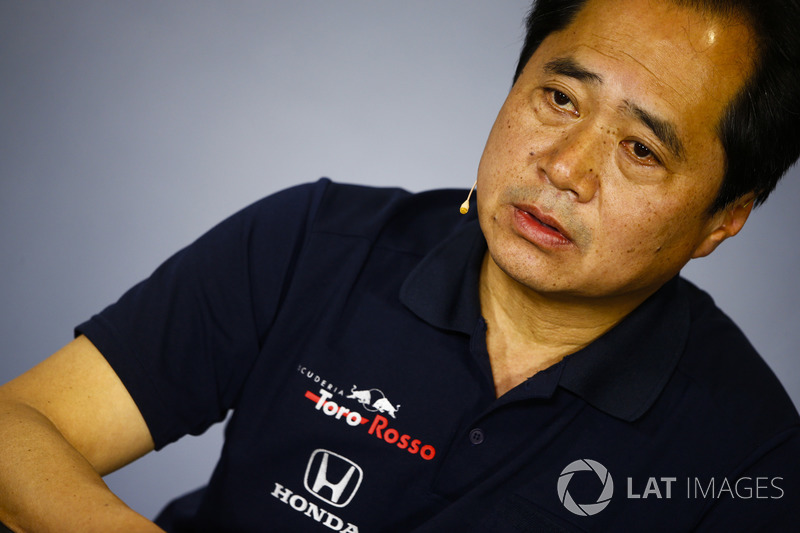 Toyoharu Tanabe, Direktur Teknis Honda F1, saat sesi konferensi pers team principal