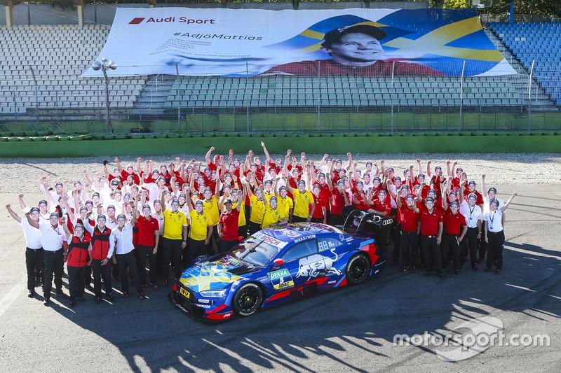 Маттиас Экстрём и команды Audi Sport Team Abt Sportsline