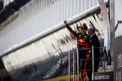 Max Verstappen, Red Bull Racing, 3rd position, on the podium