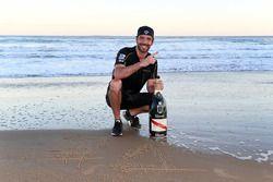 Jean-Eric Vergne, Techeetah, festeggia sulla spiaggia