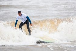 Mitch Evans, Jaguar Racing, goes surfing