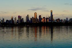 Melbourne şehir görünüm