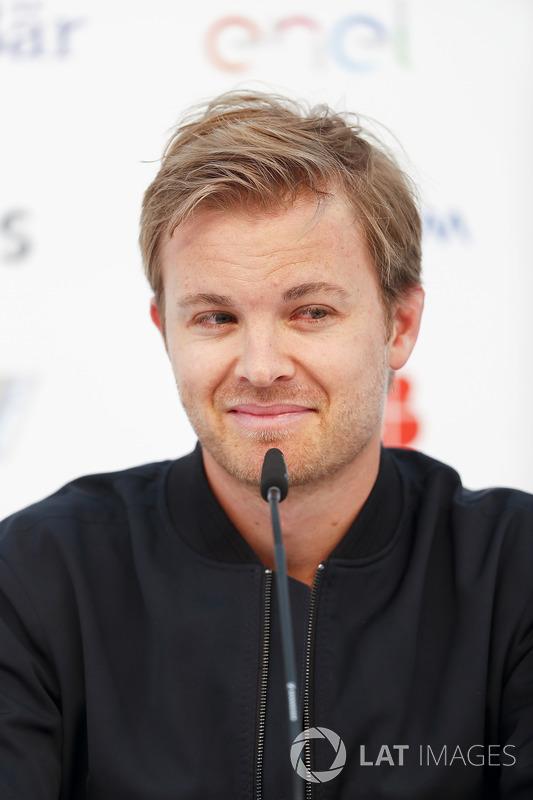 Nico Rosberg, Formula E investor, Hugo Boss Ambassador, in the press conference