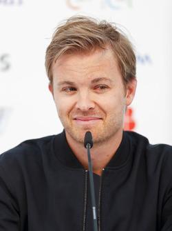 Nico Rosberg, investitore Formula E e ambasciatore Hugo Boss, nella conferenza stampa
