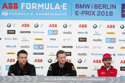 Andre Lotterer, Techeetah, Maro Engel, Venturi Formula E Team, ad Daniel Abt, Audi Sport ABT Schaeffler, in the press conference
