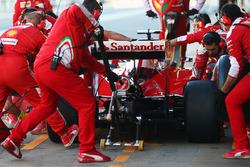 Kimi Räikkönen, Ferrari SF16-H beim Boxenstopptraining