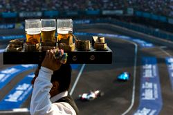 Beverages on offer during the race
