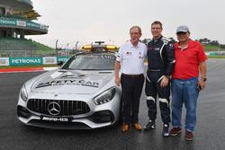 Professor Steve Grigg and Bernd Maylander, FIA Safety Car Driver