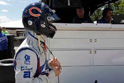Ed Jones, Dale Coyne Racing Honda con un casco in onore di Walter Payton
