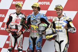 Top3 in qualifying: Takaaki Nakagami, Idemitsu Honda Team Asia, Polesitter Franco Morbidelli, Marc V