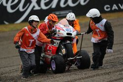 Scott Redding, Octo Pramac Racing bike after his crash