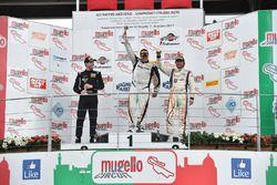 Podio GTS gara 2, Luca Magnoni (Nova Race,Ginetta G55-GT4 #206), Matteo Arrigosi (Ebimotors Srl,Pors
