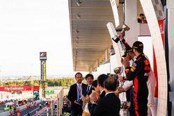 Third place Daniel Ricciardo, Red Bull Racing, Race winner Lewis Hamilton, Mercedes AMG F1, Max Vers