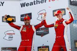 GTD winners Alessandro Balzan, Christina Nielsen, Scuderia Corsa
