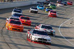 Ryan Blaney, Team Penske Ford, Erik Jones, Joe Gibbs Racing Toyota and Kyle Larson, Chip Ganassi Racing Chevrolet