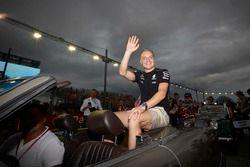Valtteri Bottas, Mercedes AMG F1, in de rijdersparade