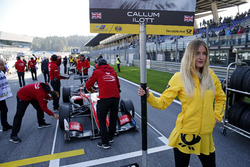 Grid girl of Callum Ilott, Prema Powerteam, Dallara F317 - Mercedes-Benz