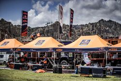 Team area of Red Bull KTM Factory Racing at the bivouac