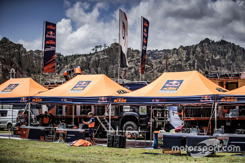 Le bivouac du Red Bull KTM Factory Racing