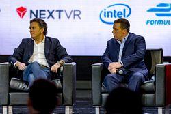 Jean Todt, President, FIA, Alejandro Agag, Formula E CEO, Zak Brown, Chairman, Motorsport Network and Avin Arumugam, SVP, Internet of Things, Visa