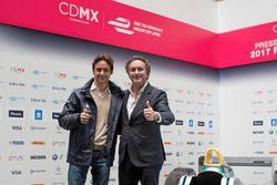 Esteban Gutiérrez e Alejandro Agag, CEO Formula E