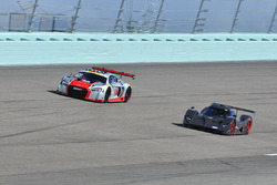#50 FP1 Aquila LS7 driven by Ethan Low & Adolpho Rossi of Ginetta USA, #23 MP1A Audi R8 GT3 LMS driv
