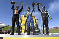 Funny Car winner Ron Capps, Funny Car winner Ron Capps, Pro Stock winner Tanner Gray